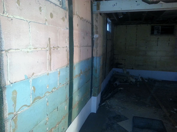 Basement Wall After Stabilization And Wall Straightening