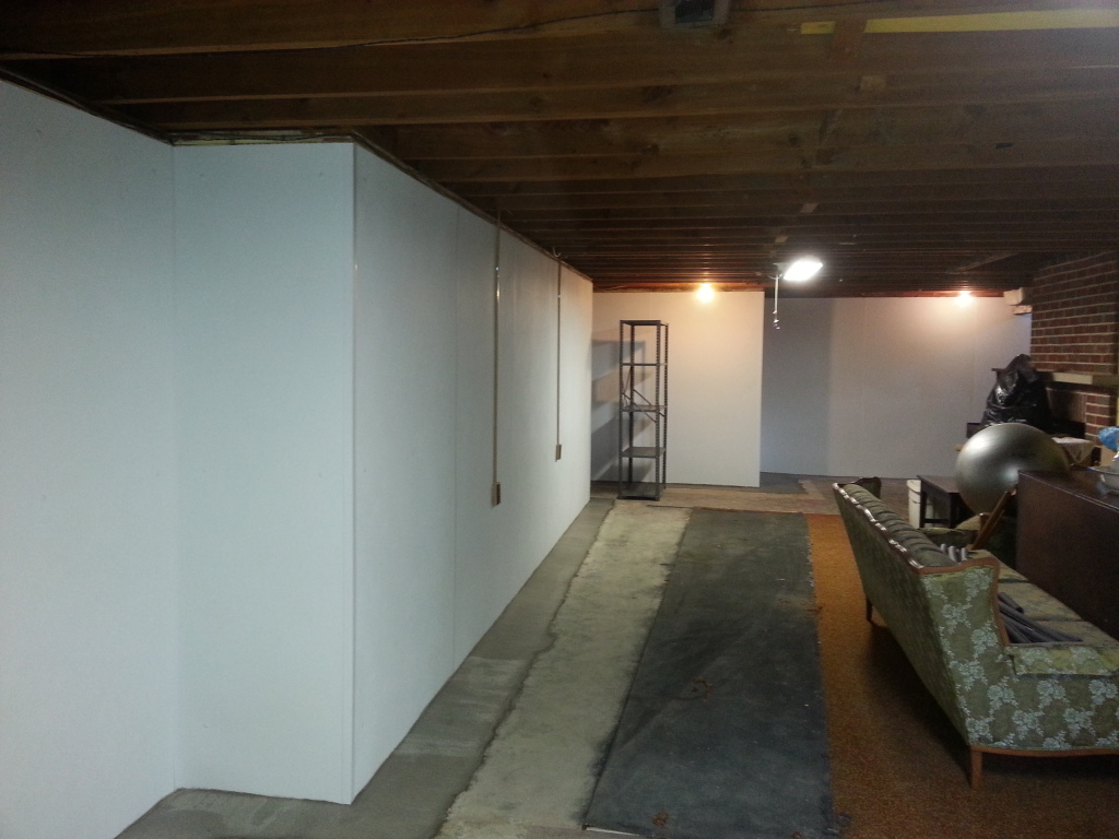 interior basement waterproofing system full wall waterproofing panels