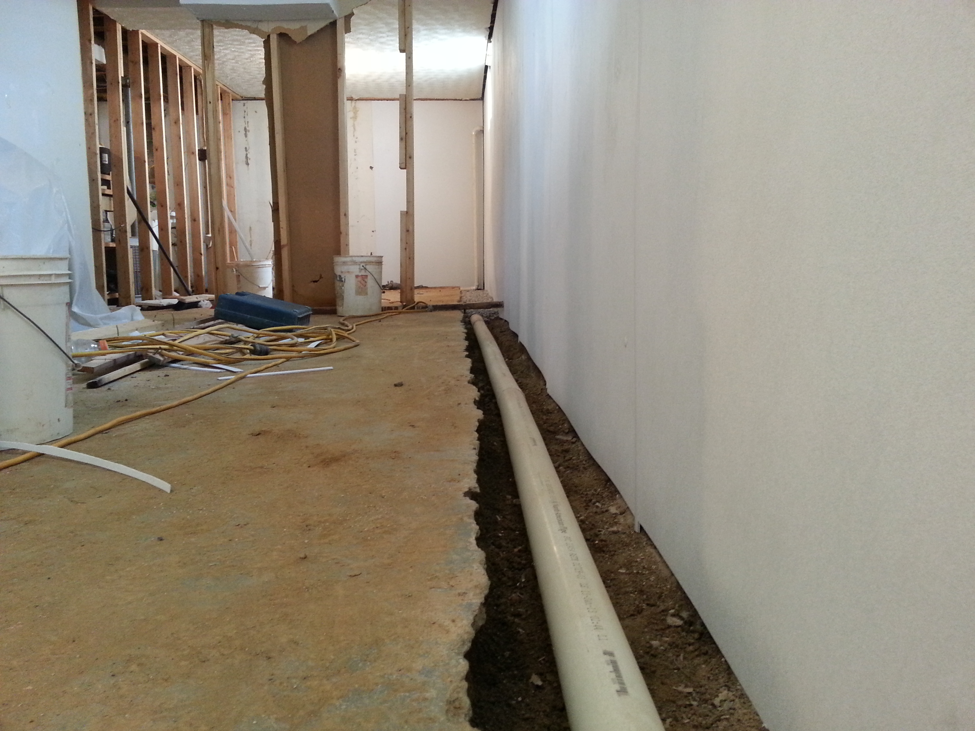 100 interior basement drainage insulated basement concrete block with 4 in interior rigid - Interior basement ...