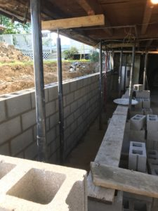 Foundation wall replacement
